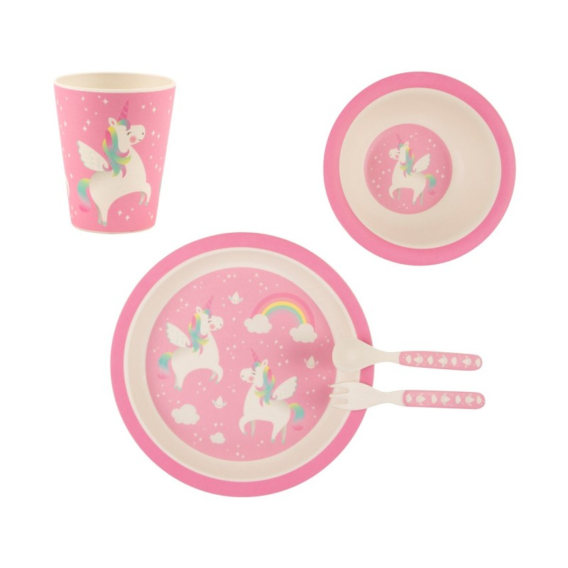 rainbow unicorn tableware set-800x800